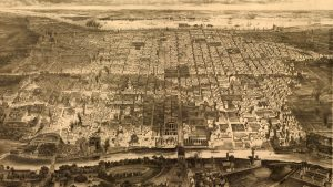 Bird's eye view of Philadelphia, 1857