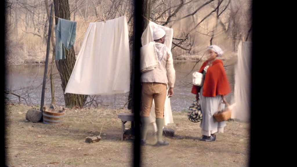 A historical reenactment of two married people, Jack and Parthenia, kept on Penn's estate