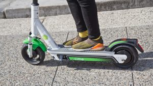 Riders were invited to test drive Lime scooter at Philadelphia City Hall in May 2019