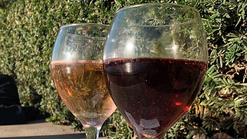 Forgiven Wine's first offerings: a sparkling rose and a CBD-infused red