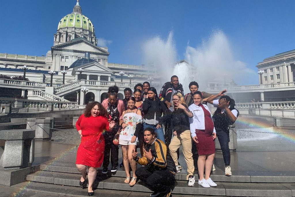 Members of Youth Fostering Change, an advocacy organization, are part of a a constituency that Governor Tom Wolf has yet to heed