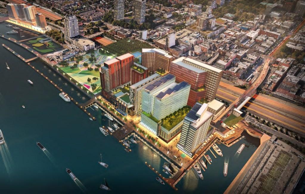 Rendering of Hoffman's proposed development at Penn's Landing