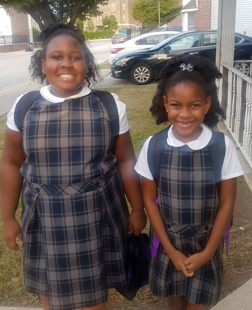 The James sisters, students at St. Malachy