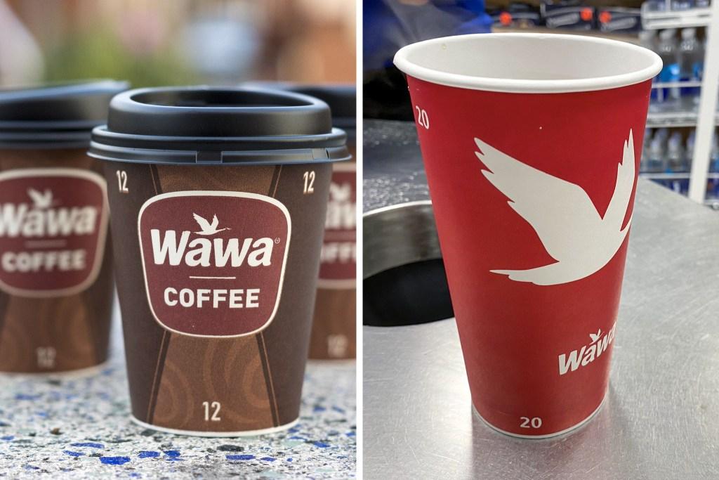 Old Wawa coffee cups, new Wawa coffee cups