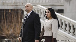 Pennsylvania Second Lady Gisele Fetterman with husband Lt. Gov. John Fetterman