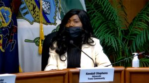 Kendall Stephens testifies in front of the Pa. Senate Majority Policy Committee in October 2020