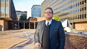 Ken Smukler outside the federal courthouse in Philadelphia in 2019