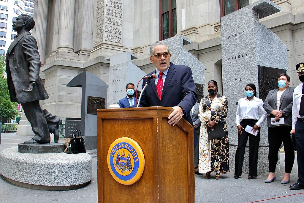 Philadelphia District Attorney Larry Krasner is prosecuting suspects in the recent trans woman attacks