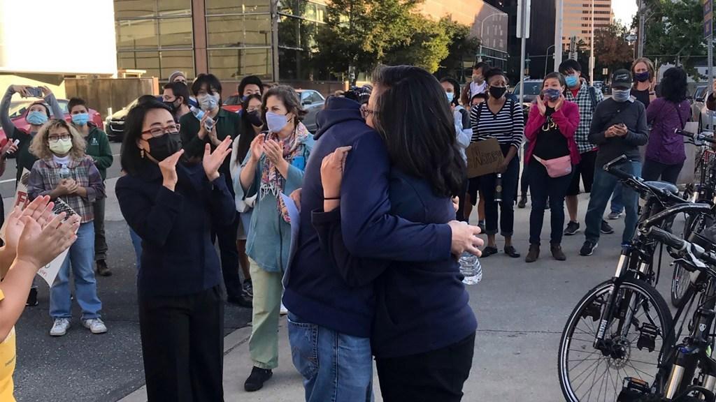 VietLead executive director Nancy Nguyen after her release from recent arrest