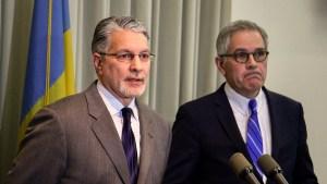 Anthony Voci (left) with District Attorney Larry Krasner in 2019
