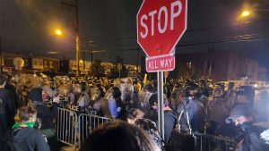 Marchers protesting the police killing of Walter Wallace Jr. were met with more police