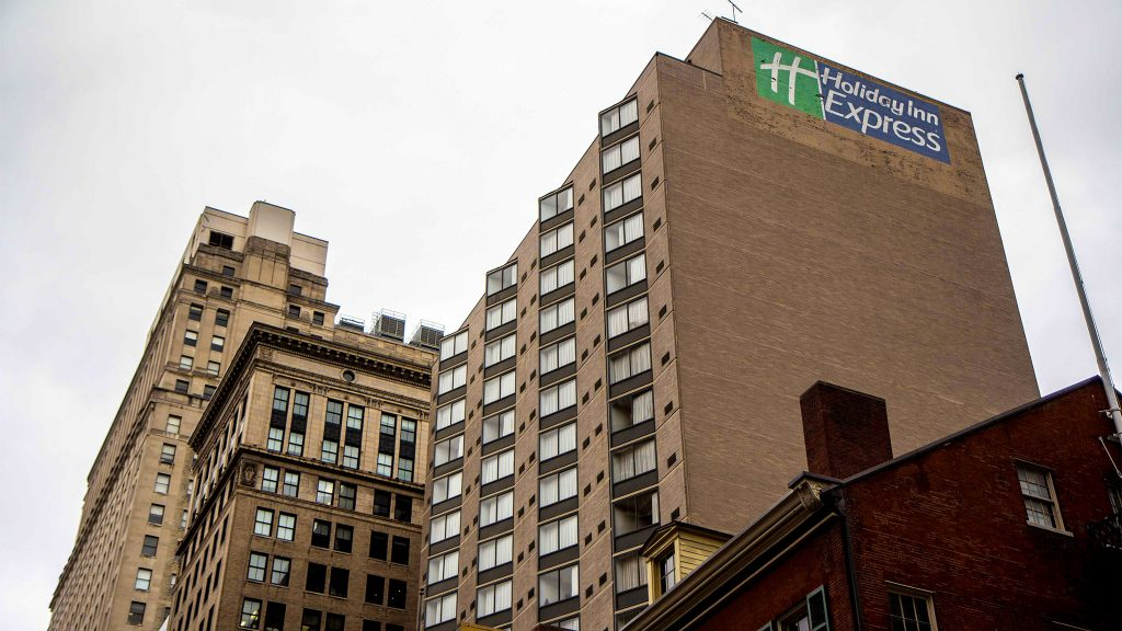 The Holiday Inn Center City is being used as a COVID prevention and quarantine site