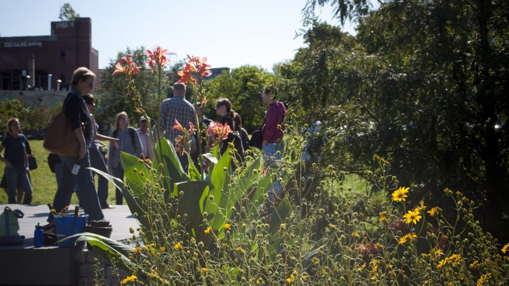 Neighbors gather in Liberty Lands Park in 2011