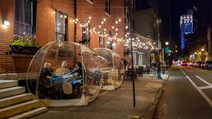 With indoor dining on hold, some restaurants have gone to great lengths to make outdoor dining work in the winter