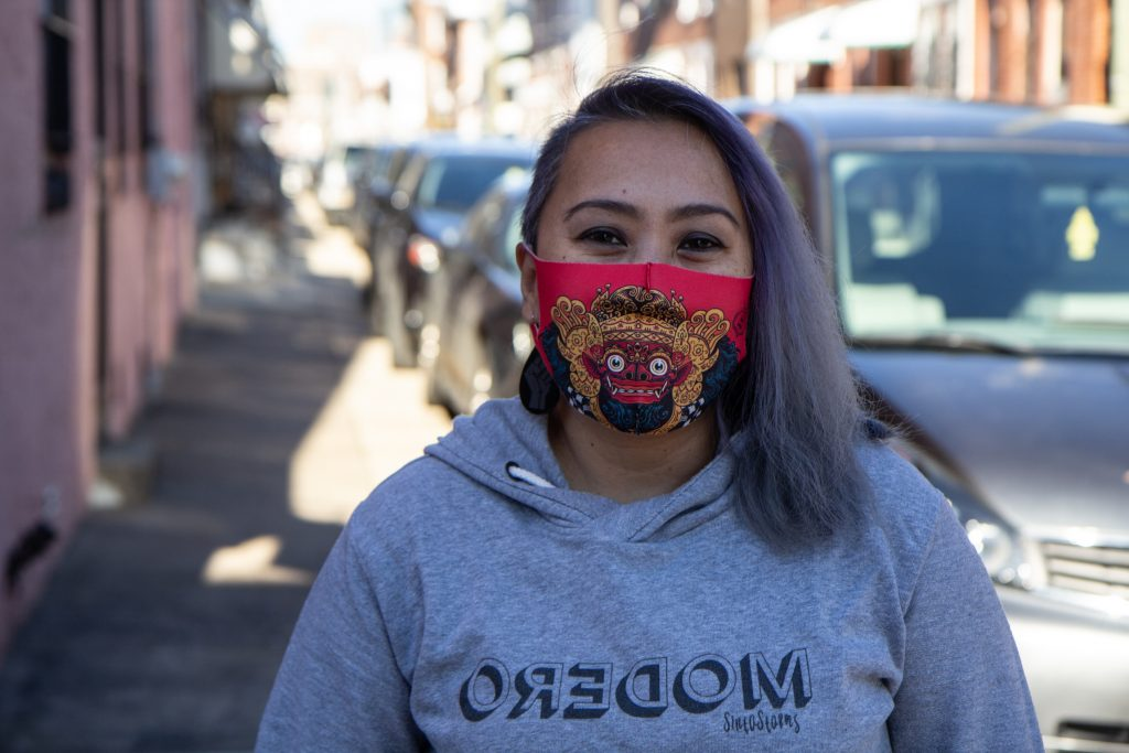 Sinta Penyami runs Modero&Co, an Indonesian dance studio and community cultural organization. She's working with Philadelphia's new Office of Worker Protections to educate Indonesian workers on labor law. (Kimberly Paynter/WHYY)