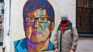 Down the block from the whitewashed mural, a colorful new Gloria Casarez tribute