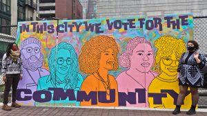 New Philly mural shouts out Black and queer organizers' role in getting Biden elected