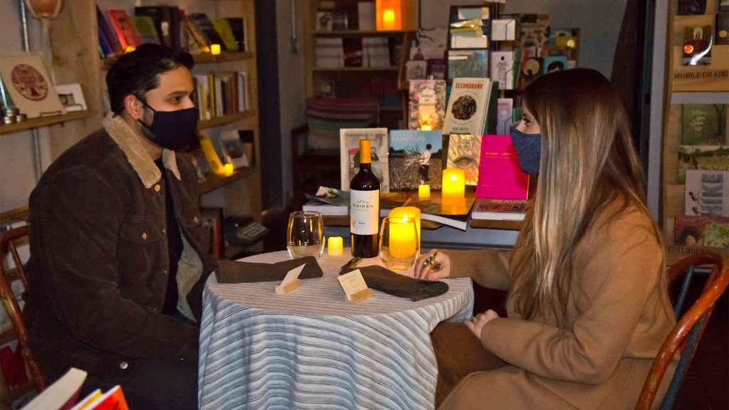 Anush Sridharan and Gina Tomaine chose the bookstore for their first real night out since the pandemic began