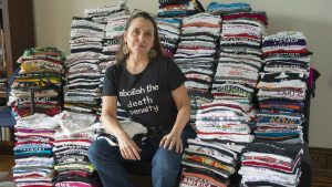 Photographer Lori Waselchuk is now trading her t-shirts in return for donations to Philly mutual aid organizations