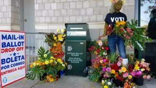 Jig-Bee Flower Farm decorated ballot drop boxes during the November 2020 election