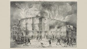 'Destruction by Fire of Pennsylvania Hall,' by J.T. Bowen, 1838