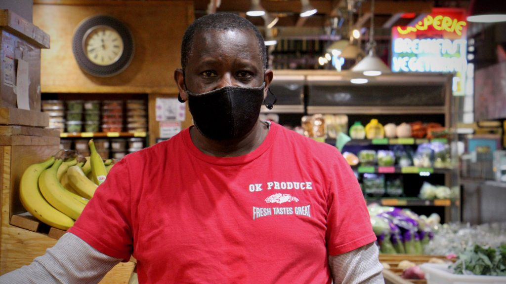 Along with his wife Mercy Gatuka, Sam Gatuka is the owner of OK Produce in the Reading Terminal Market