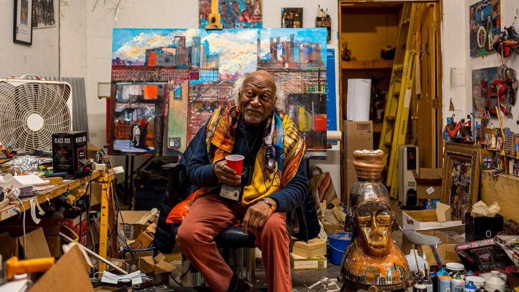 Philadelphia artist Leroy Johnson, as photographed by Wale Oyejide of Ikiré Jones