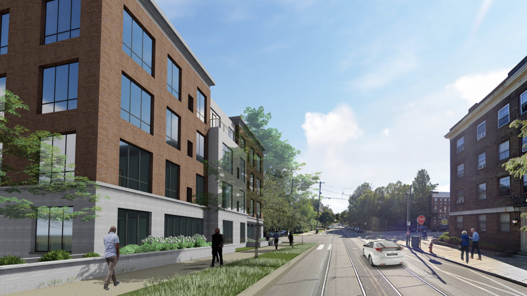 Rendering of protested  development proposal at 48th & Chester Avenue in West Philly