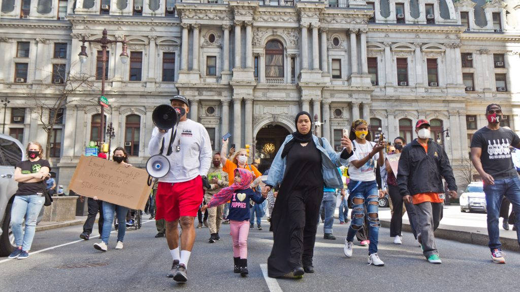 Philadelphians demanding more resources to combat gun violence marched down Broad Street in March