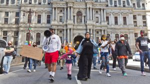 Philadelphians demanding more resources to combat gun violence marched down South Broad Street