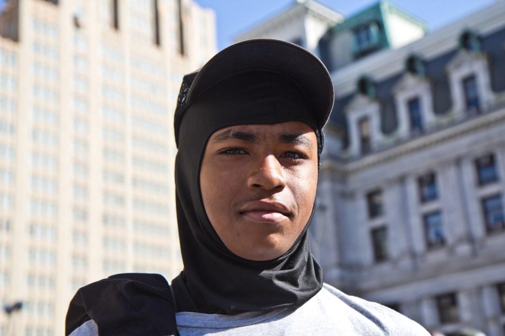 West Oak Lane resident Yahmir Johnson, 14, said he keeps to himself so he doesn't get killed