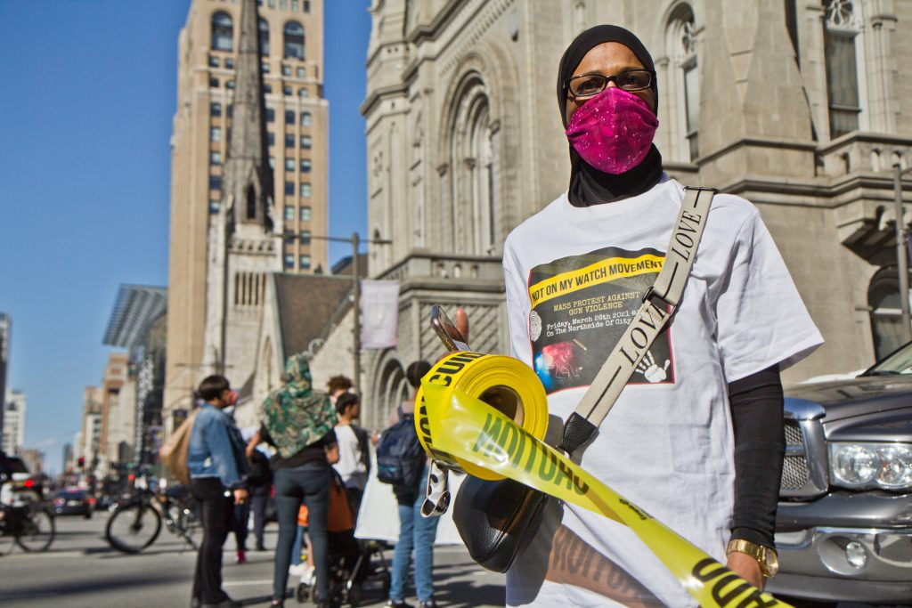 Rally co-organizer Zahirah Ahmad, a North Philly resident and member of the Not On My Watch movement