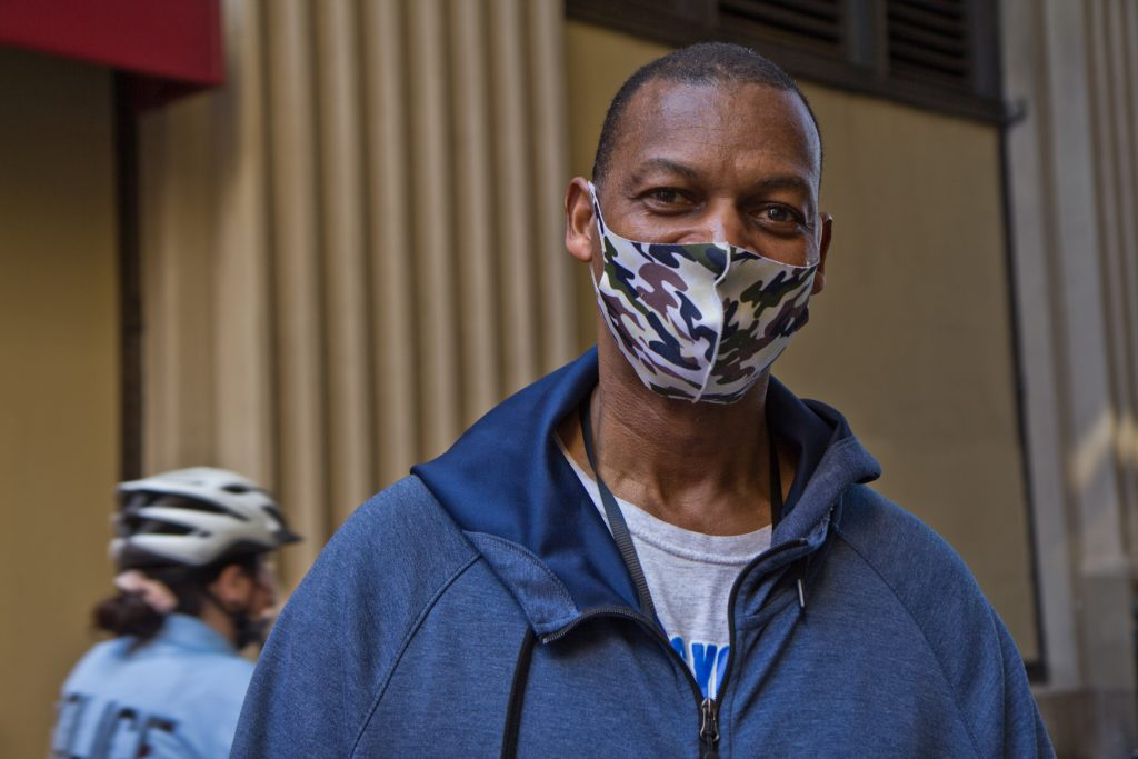 Germantown resident Eric Knight joined activists at the rally and march