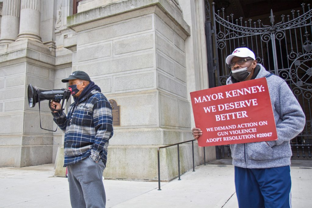 Activist Jamal Johnson went on hunger strike last winter in part to urge the mayor to declare a gun violence emergency