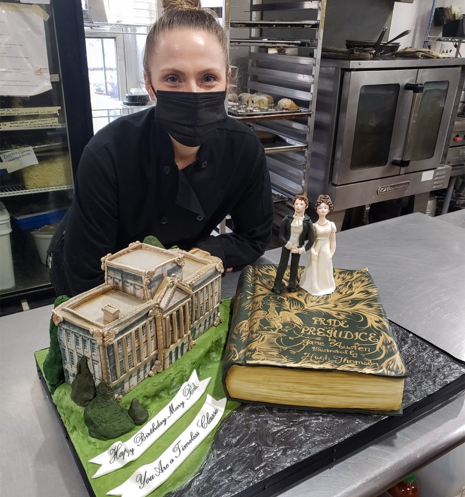 Pastry chef Jackie Swain and her creation