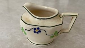 A creamer the author inherited from her mother