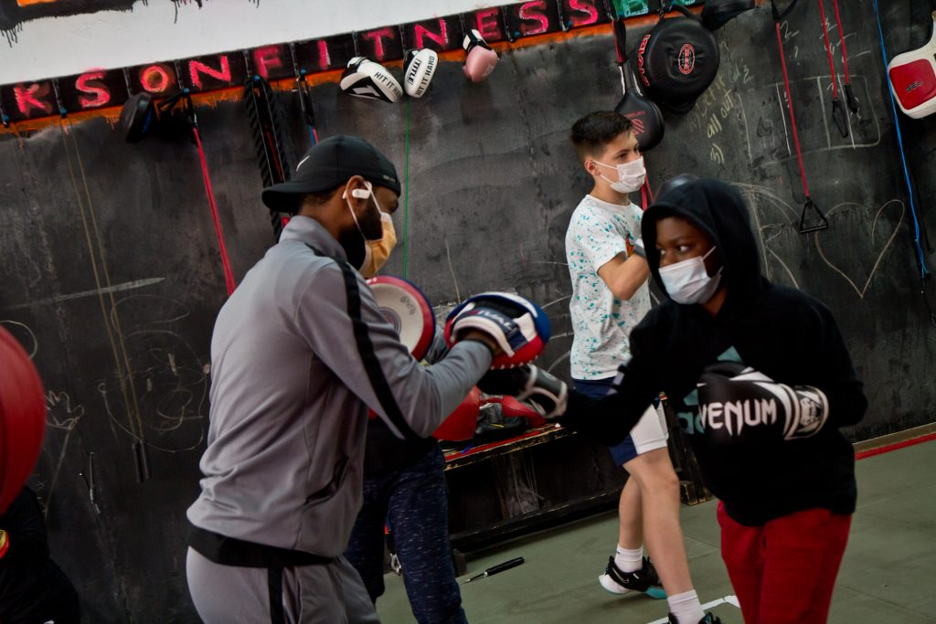 Hanif Nelson is one of the coaches at Maleek Jackson Fitness Boxing Gym