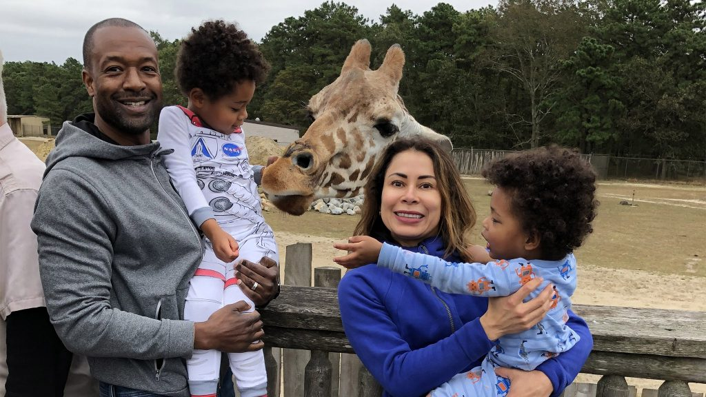 Mustafa Rashed with wife Cynthia Mauger and their sons Miles and Mathias
