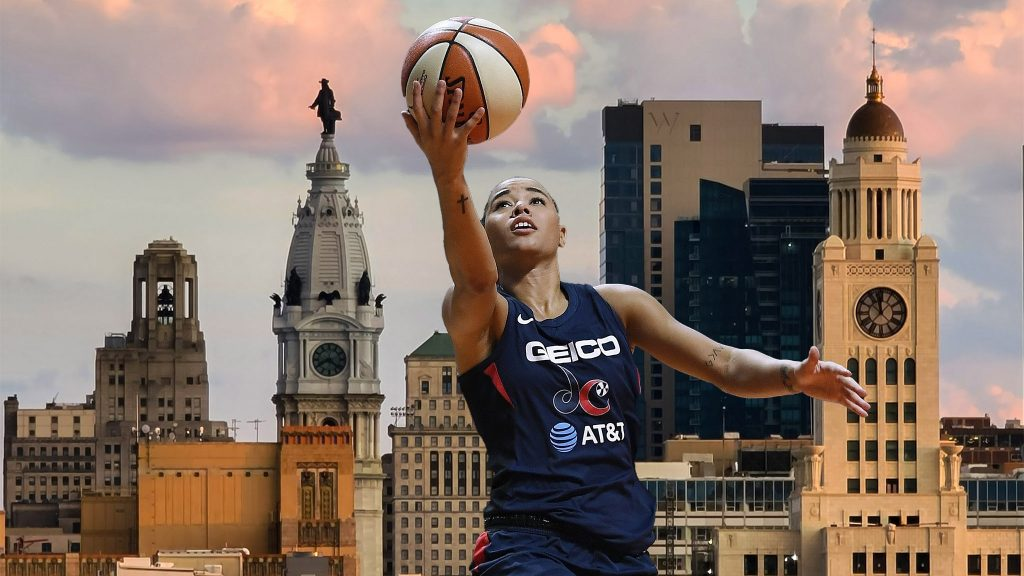 The Washington Mystics' Natasha Cloud, a Delco native, is trying to help bring a WNBA team to Philly