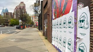 Oat milk ads cover street art on South Broad