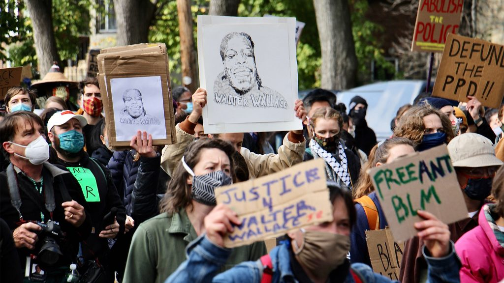 Protesters marched in West Philadelphia after police killed Walter Wallace Jr. while responding to a 911 call