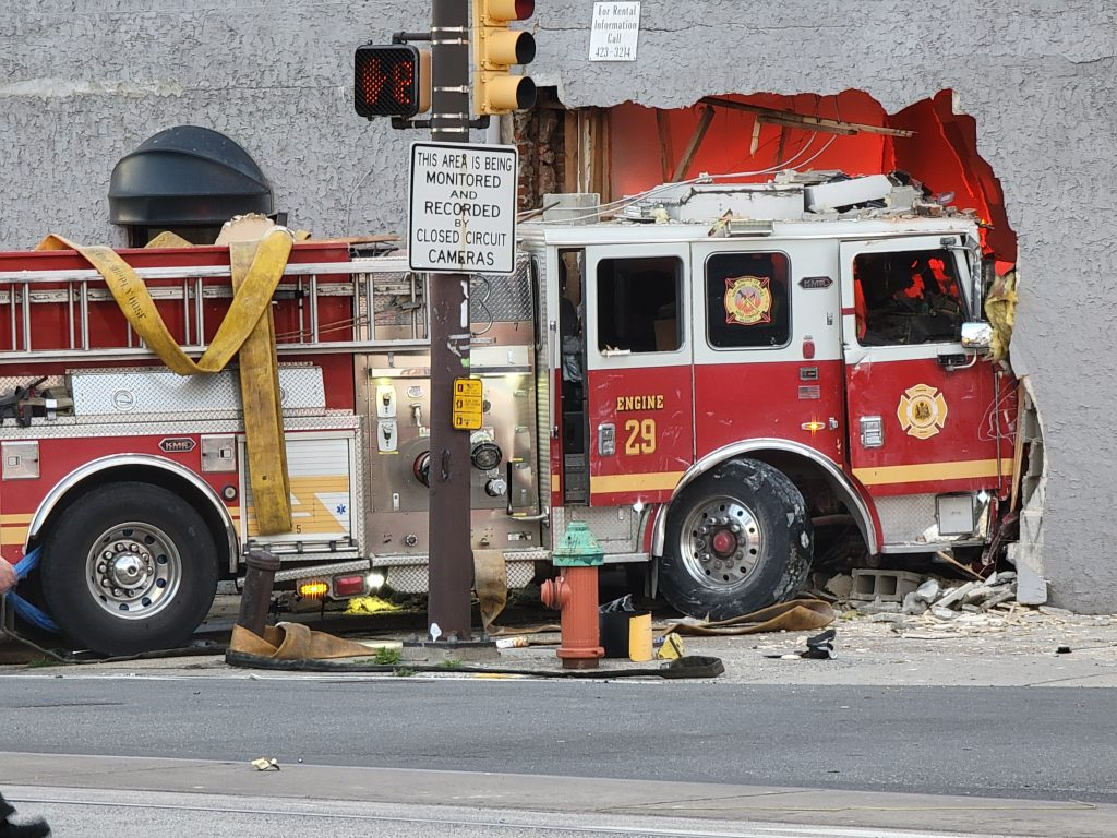 Philadelphia Fire Truck Drives Through Building What We Know On Top Of Philly News