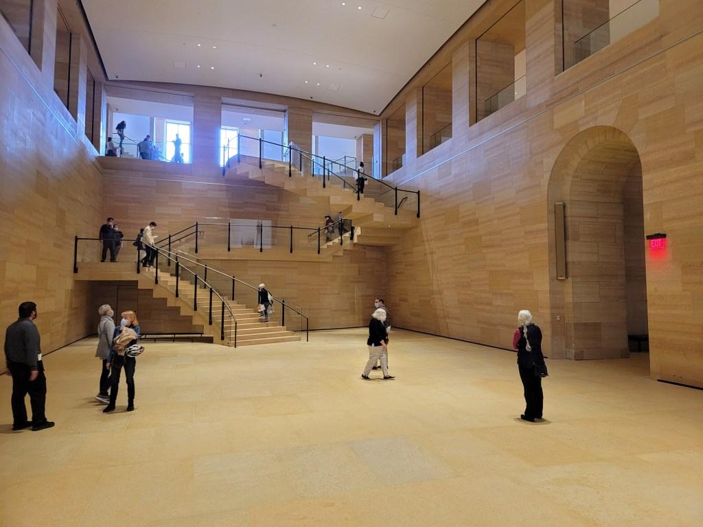 The Williams Forum replaces a former enclosed auditorium