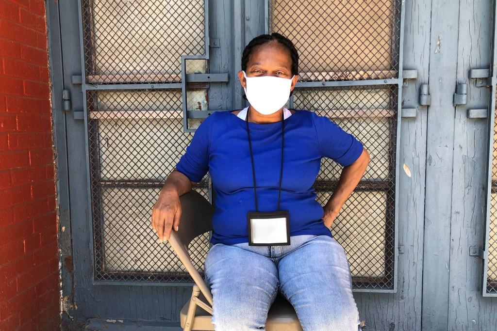 Harrison Homes poll worker Yvette Holland