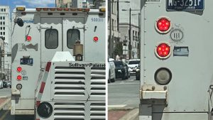 Philadelphia Gas Works says these decals have since been removed from the utility vehicle