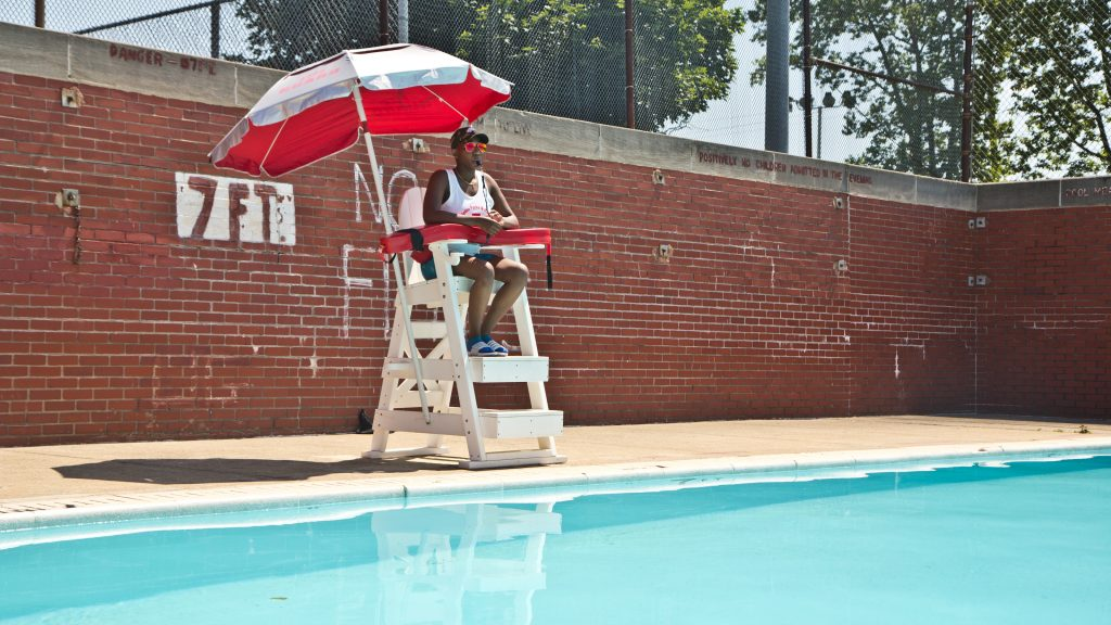 Breana Cooper, 25, has been a lifeguard for 7 years