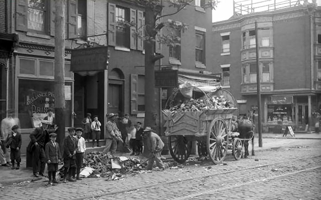 Clean Up Week 1915 on Fitzwater Street in South Philadelphia