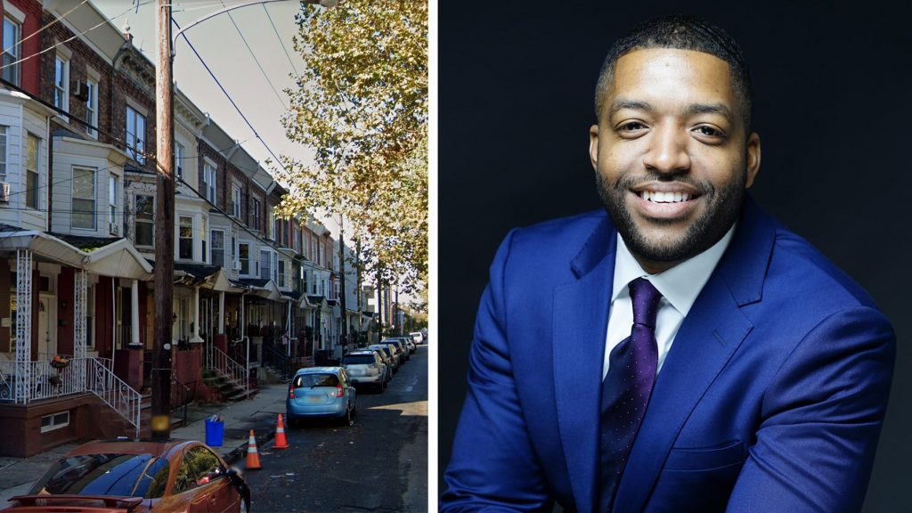 State Rep. Amen Brown and the South Philly street where he held a title to a house that wasn't his