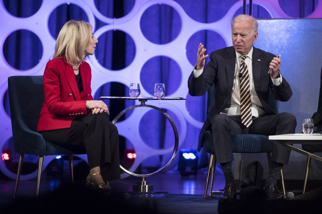Gutmann hosted then-former VP Biden at a forum on the opioid epidemic at UPenn in April 2019 in Philadelphia
