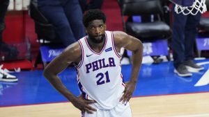 Joel Embiid in the final minute of Game 7